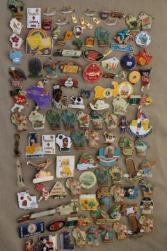 100+ pin collection, collectible Lions club enamel pins, many from Wisconsin