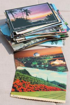 150+ vintage postcards, assorted souvenir photo postcard lot 60s 70s 80s 90s