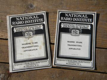 1920s marine transmitting books w/illustrations National Radio Institute
