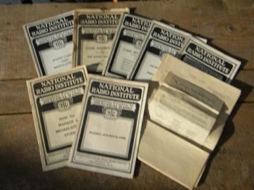 1920s technical books on radio broadcasting National Radio Institute