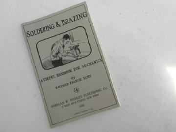 1925 book soldering & brazing for metalcraft & jewelry artists