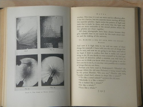1930s 1st edition atomic science book w/ photos, pre atomic bomb