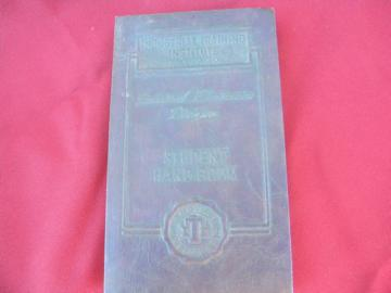 1940s mid century industrial electronics handbook w/embossed cover