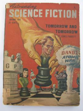 1940s vintage pulp sci-fi story magazine, Astounding Science Fiction - Jan 1947