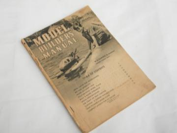 1942 Model Builders Manual building airplanes,boats etc