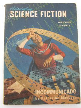 1950s Astounding Science Fiction pulp sci-fi magazine, Isaac Asimov/A. E. van Vogt