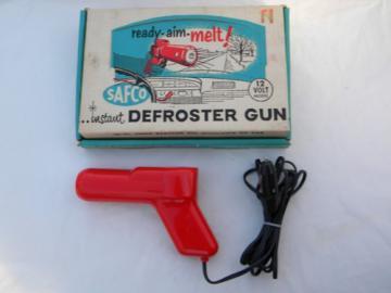 1950s hotrod vintage, Safco 12 volt windshield defroster heat gun