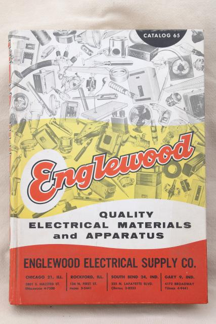 1950s vintage electrical supply catalog, fans, lighting, light socket fixtures
