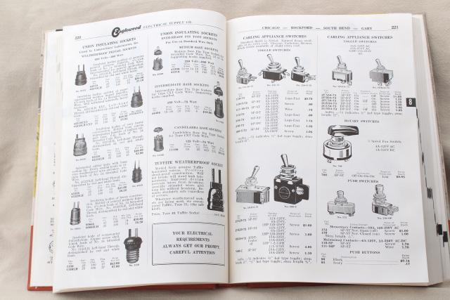 1950s Vintage Electrical Supply Catalog Fans Lighting