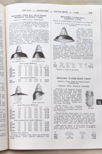 1950s Vintage Electrical Supply Catalog Fans Lighting Light Socket Fixtures