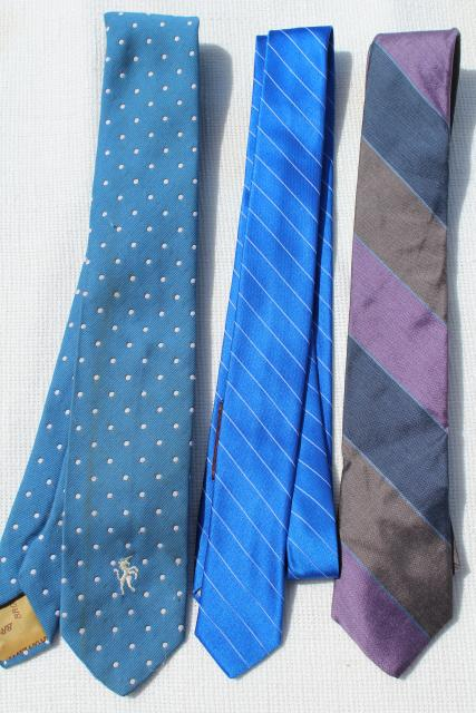 1960s 1970s vintage neckties, estate lot of men's ties, retro colors & styles