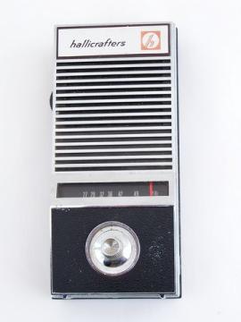 1960s Hallicrafters CRX-106 portamon handheld AM transistor radio receiver