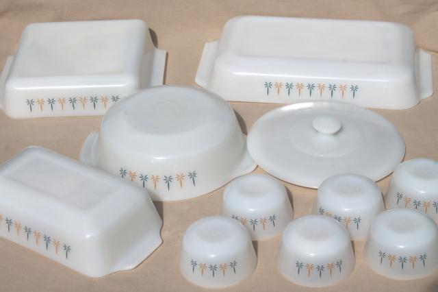 1960s Vintage Candle Glow Fire King Milk Glass Baking