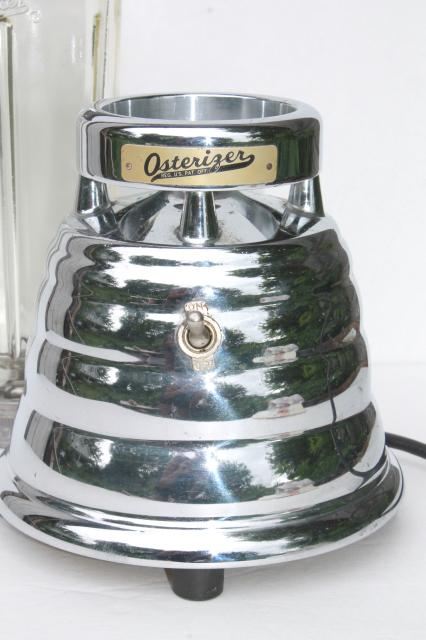 1960s vintage chrome beehive blender, Oster Osterizer w/ powerful single speed motor