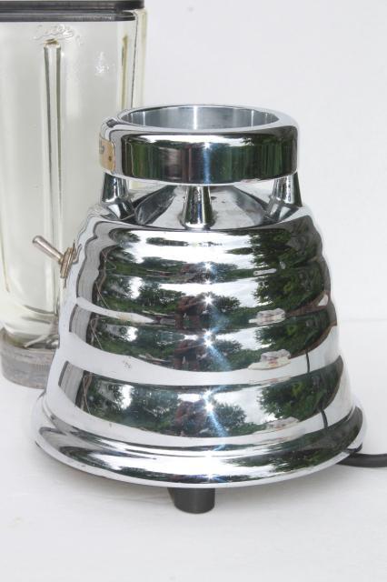 Oster Beehive Blender Parts 1960s vintage chrome beehive blender, Oster Osterizer w ...