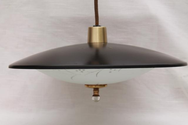 1960s vintage flying saucer pull down ceiling light mid century modern lighting