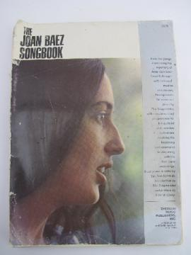 1960s vintage Joan Baez songbook, ballad lyrics & music, folk guitar