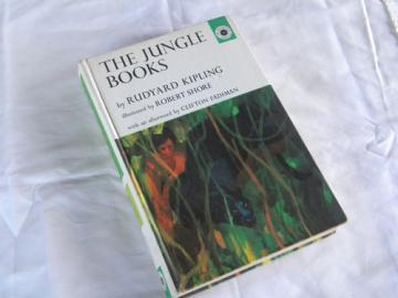 1960s vintage Rudyard Kipling's The Jungle Books w/color illustrations