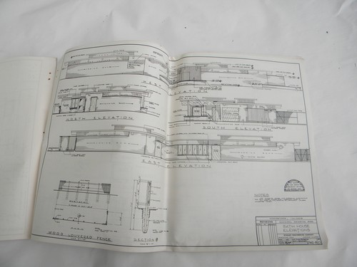 1961 City Swimming Pool Blueprints Architectural Drawings Plans Woodstock Il