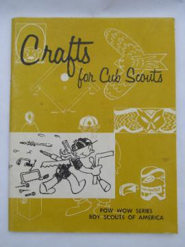 1963 Crafts for Cub Scouts book, 78 pg vintage Boy Scout craft booklet