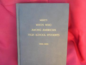 1968-1969 Merit's Who's Who of American High School Students honor roll