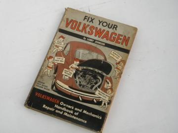 1970 hippie VW bus&beatle vintage Fix Your Volkswagen w/photos/illustrations