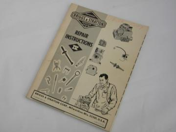 1970s Briggs & Stratton small engine repair instruction manual