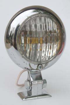 1970s chrome Ghia automotive driving light, 3 1/4 inch volkswagen vintage