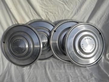 1970s Ford Galaxie Torino hubcaps wheel rim covers stainless steel
