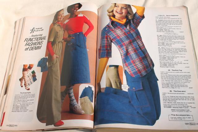 1970s vintage Sears catalog Fall Winter big book, retro fashion, home decor, tools