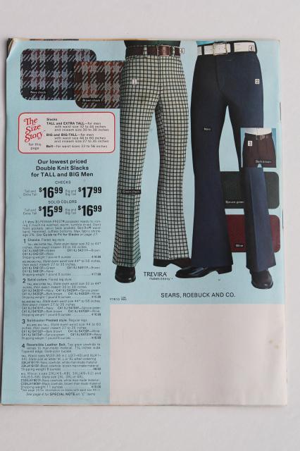 1975 Sears Catalog Book Of Men S Big Amp Tall Clothes
