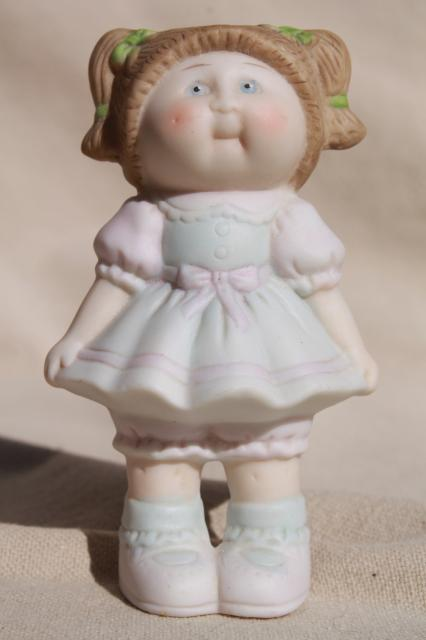 1984 Cabbage Patch Kids vintage ceramic Cabbage Patch Kid girl china figurine