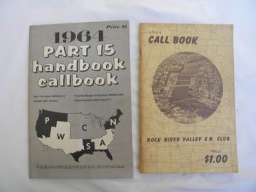 2 mid-century amateur radio transceiver operator call sign hand books