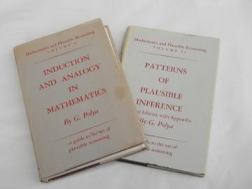 2 volume set mathematics / reasoning & logic 1954