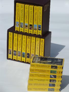 20 VHS tapes, National Geographic video tapes lot, many still sealed