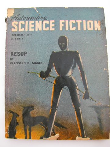 40s Pulp Vintage Sci Fi Magazine Astounding Science Fiction Robot Cover Art