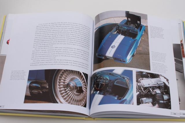 50 Years of Corvette, collectible cars book w/ 300+ pages, tons of photos