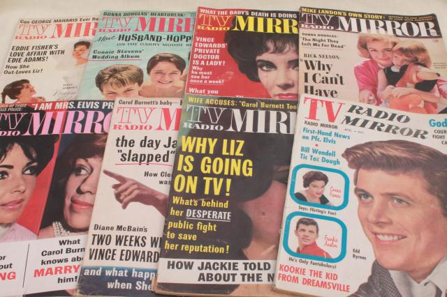 50s 60s vintage TV Radio Mirror celebrity tabloid magazine back issues lot