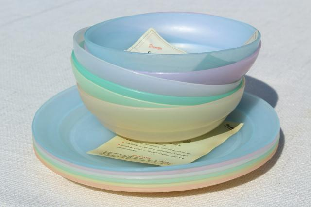 50s 60s Vintage Tupperware Frosted Pastel Colors Unused