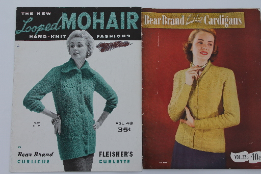 50s 60s vintage knitting magazines pattern booklets, ladies sweaters & suits