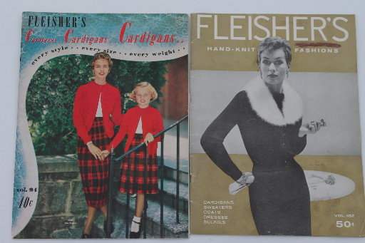50s 60s Vintage Knitting Magazines Pattern Booklets Ladies Sweaters