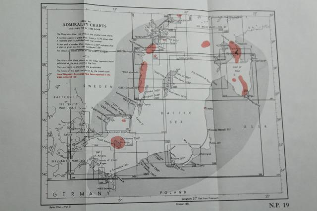 50s 60s vintage nautical navigation books, Black Sea, Baltic, Bay of Biscay guides w/ maps & charts