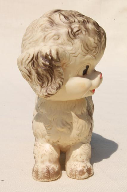50s vintage Ruth Newton Sun Rubber squeak toy puppy dog w/ working squeaker