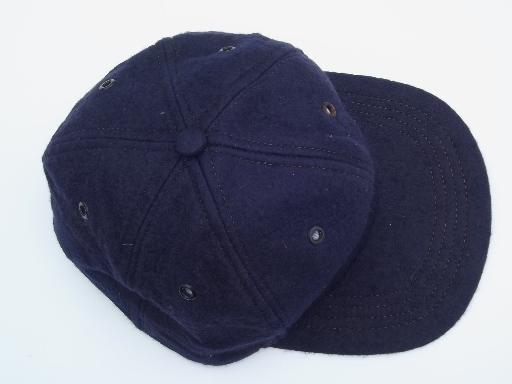 50s vintage felt baseball cap beanie hat 6a8ecf2e041