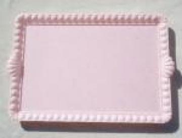 50s vintage pink plastic vanity table perfume tray in original box