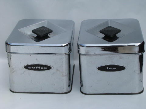 vintage canisters retro kitchen storage sugar tea coffee