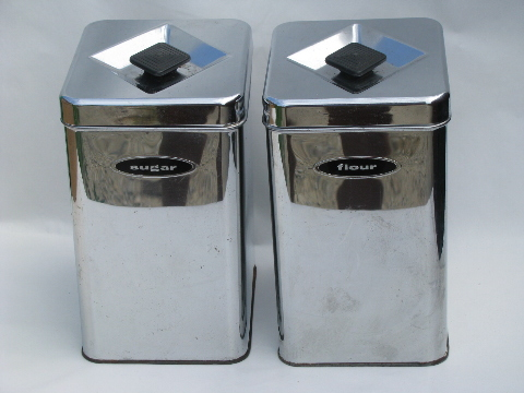 50s 60s vintage kitchen canisters mod silver chrome chic style concepts for a grey kitchen decor advisor