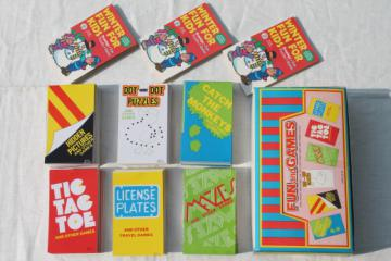 6 dozen new old stock mini activity books, fun & games for travel or camp