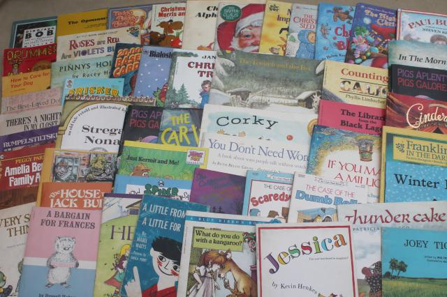 60+ children's picture book soft covers, kids paperbacks, early reader books lot