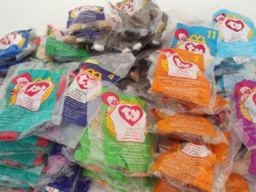 60+ TY teenie Beanie Babies, McDonalds Happy Meal teeny beanies lot